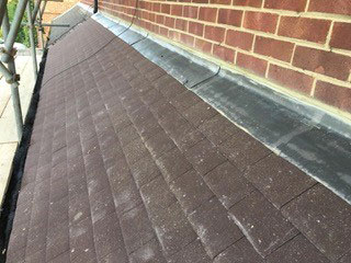 maintained and cleaned roof area